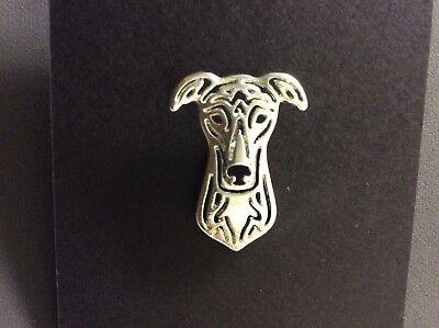 Greyhound Whippet Lurcher Dog Pin Brooch