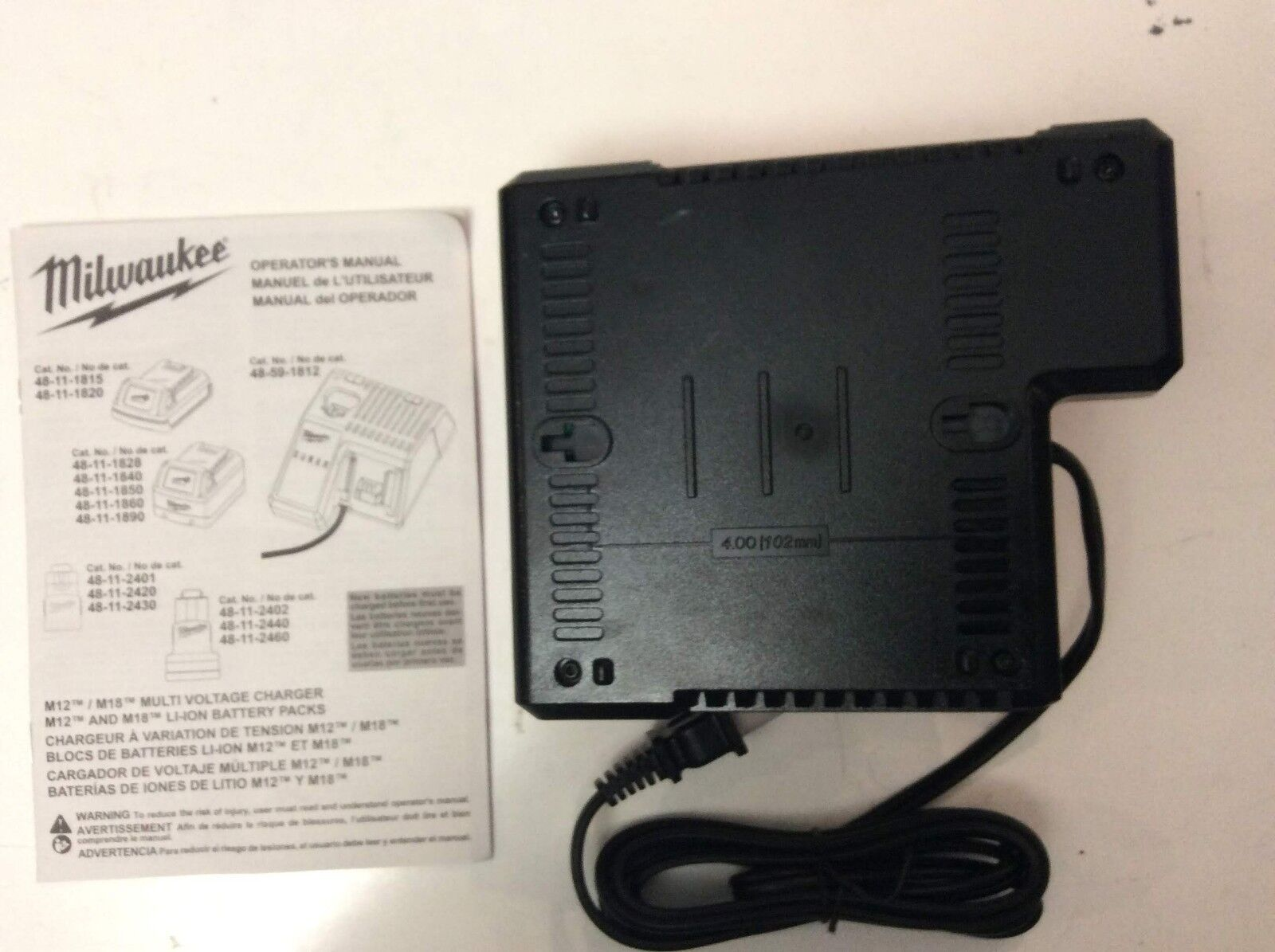 MILWAUKEE 48-59-1812 18V 18 VOLT M12 / M18 LITHIUM ION CHARGER NEW 5
