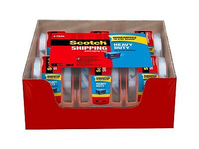 Scotch Tape Heavy Duty Shipping Packaging Tape 1.88 Inches X 800 Inches 1.5...