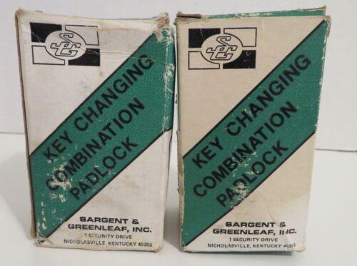 2 Vintage Sargent & Greenleaf Key Changing Combination Padlock 8077A Original