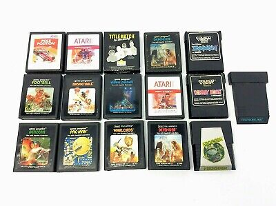 Mixed Vintage Lot Used Untested Atari 2600 ColecoVision Video Games Defender
