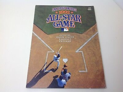 SAN DIEGO PADRES Official Program All Star Game 1992