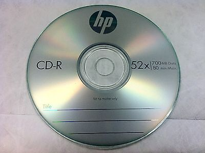 20 Pcs Hp Brand 52X Logo Blank Cd R Cdr Disc Media 700Mb With Paper Sleeves