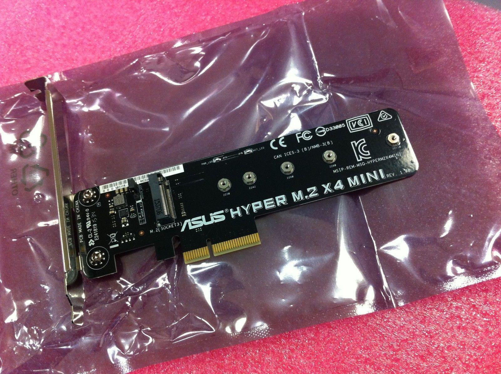 Hyper M.2 X4 Mini Accessory For Asus X99 Deluxe USB3.1 ,X99 Pro Original