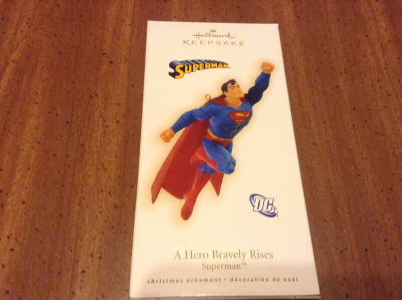 Hallmark - Superman - A Hero Bravely Rises ornament.  RARE & OOP!!!