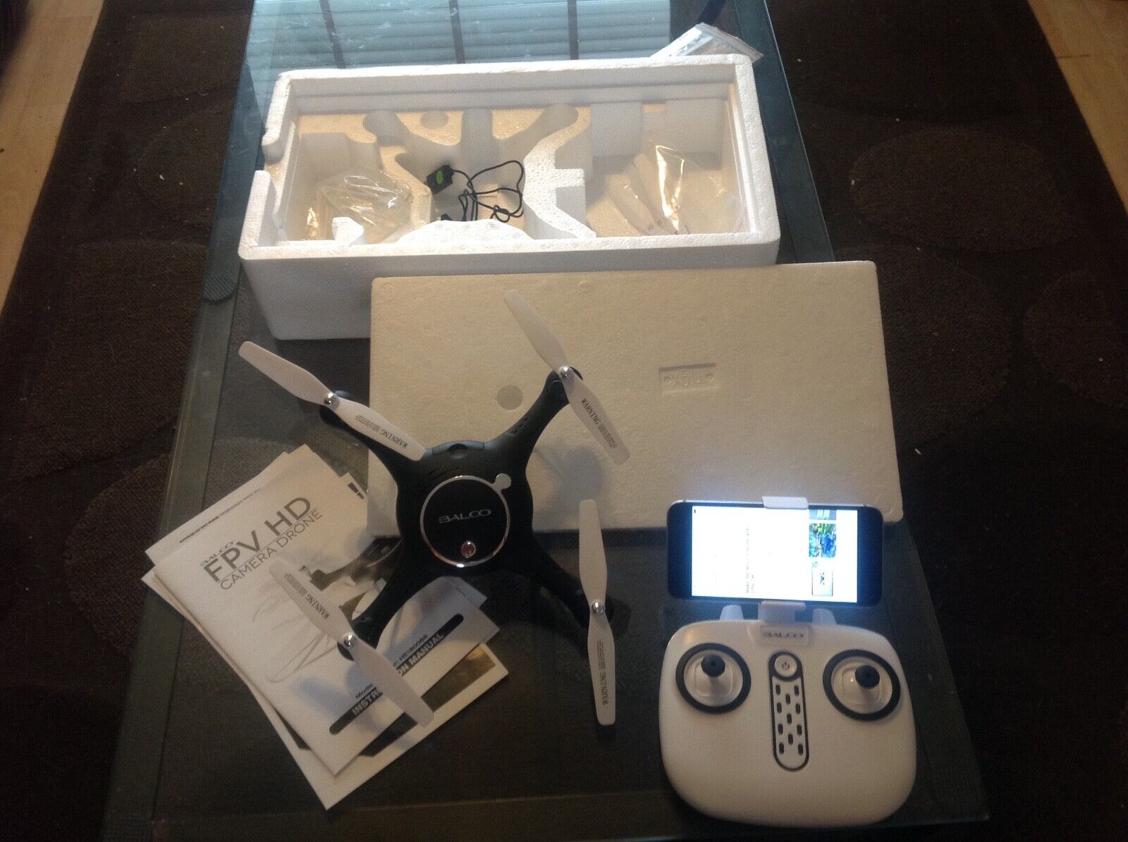 Balco Fpv HD Camera Drone used once, new condition camera and video