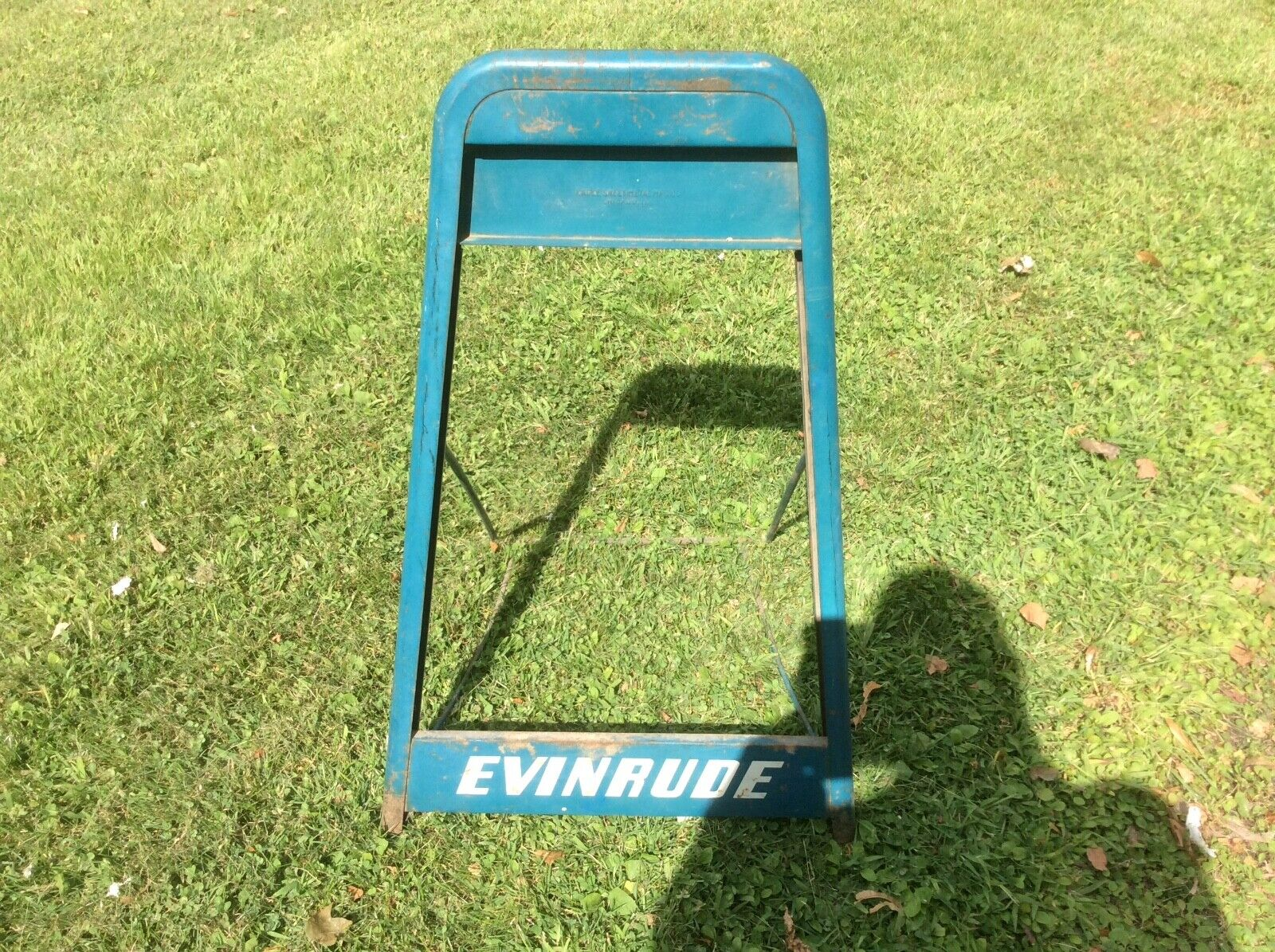 HTF Vintage 1940s / 1950s EVINRUDE 2 Piece Outboard Boat Motor Stand Rare