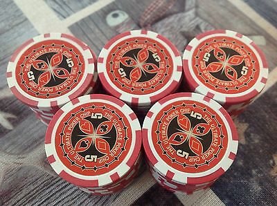 50 Laser Poker Chips, 5 The Ultimate, für Pokerkoffer Pokerset Metallkern schwer