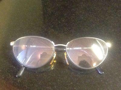 Authentic True Vintage VTG  Grunge LUGENE Black Metal Frames Heather (Grunge Eye Glasses)