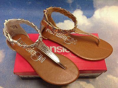 Thong Heel Schuh (Kensie Girls Fashion Thong with Zipper Closure Heel Kid Size 11 to 3 / Women 5)