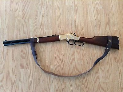 1 1 2  Leather No Drill Rifle Sling For Henry Rifles     Brown  Leather