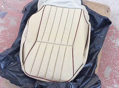 Jaguar XJ6 XJ40 LH Front Seat Base Leather CushionCover Doeskin/Mulberry BEC9163