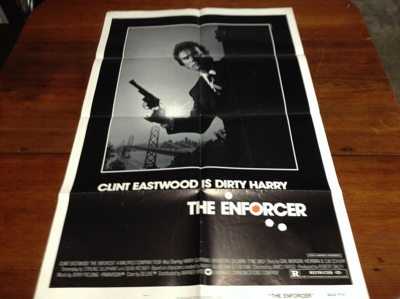 The Enforcer Original 1 Sheet Movie Poster 27 X 41 Folded - $75.00