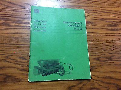 John Deere Lllzhz Grain Drill Omn159295 Operators Book
