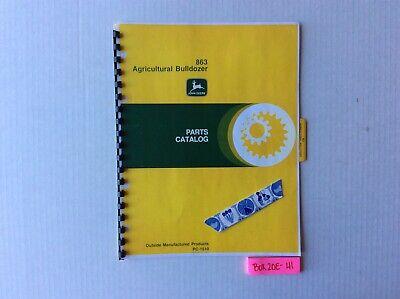 John Deere 863 Agricultural Bulldozer Parts Catalog Pc1510