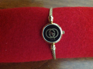 Gucci 2047L 18k Gold Plated Women's Bangle Cable Watch - 20 mm