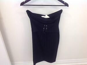 BLACK TUBE TOP DRESS BRAND NEW WITH TAGS FASHION DRESS