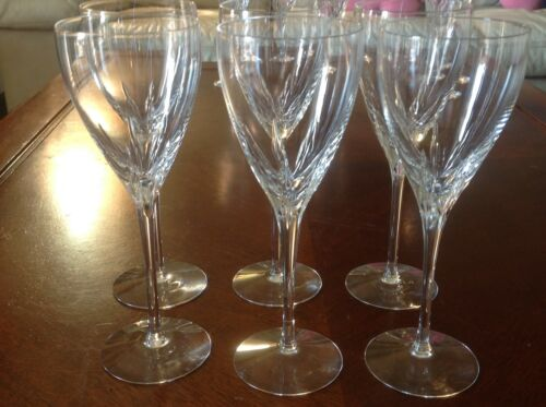"Set of 6 Lenox Firelight  fine crystal wine glasses 8.5"" tall"