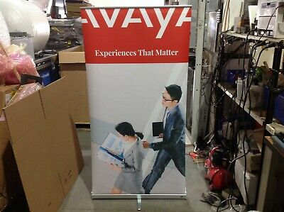 Expolinc Roll Up Retractable Banner Stand Over 7ft Tall W Bag