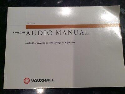 VAUXHALL AUDIO MANUAL TELEPHONE & NAVIGATION SYSTEM MANUAL, TS1521-1  2000-2004