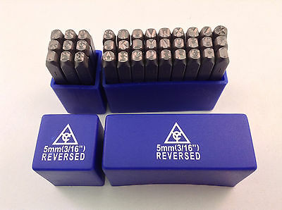 Reversed 36pc 316 5mm Steel Letter Number Stamp Punch Die Set