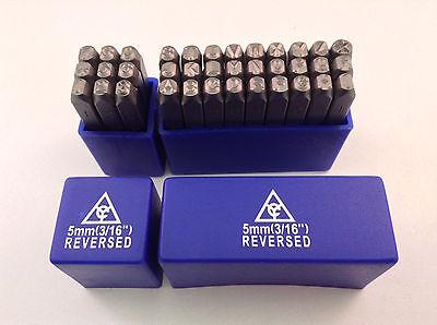 Reversed 36pc 316 5mm Steel Letter Number Stamp Punch Die Set