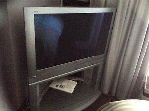 """43"""" TV and stand"""