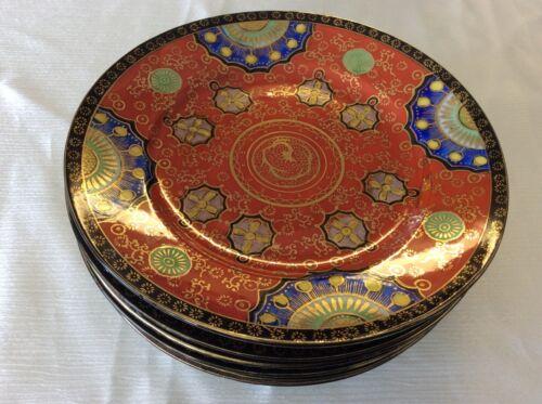 Antique Hand Painted IMARI JAPANESE PLATES Set Of 6