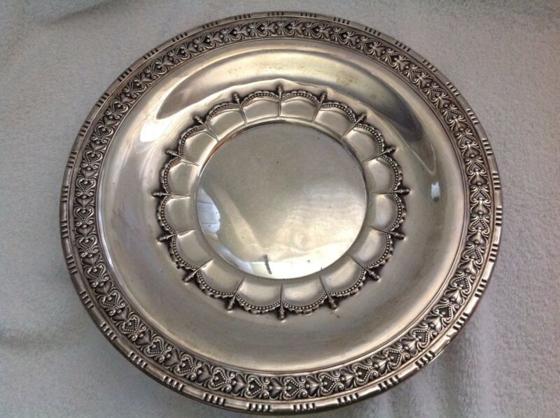 """WALLACE STERLING SILVER 10.5"""" CHARGER PLATE 4382-9"""