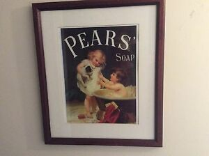 Vintage framed pears soap advertisement Stanmore Marrickville Area Preview