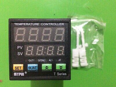 Dual Digital Fc Pid Temperature Controller Thermostat Ta4e-ssr 24v Dck Sensor