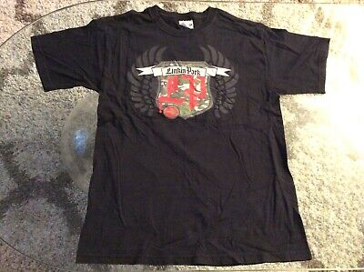 Linkin Park Camouflage Shield Wings Black Shirt Adult Medium 38-40 Vintage