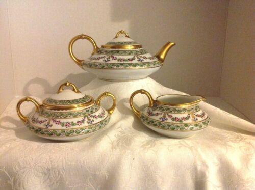 "Antique Pickard Tea Set Signed By ""Rare Artist Nesha Tolpin"" Ca 1910"