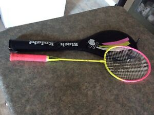 Black knight badminton racquet and protective case