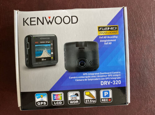 Kenwood DRV-320 Super HD Dashboard Camera - Black. Open Box,
