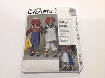 McCALLs PATTERN 4097 CHILDREN and ADULT SIZE RAGGEDY ANN & RAGGEDY ANDY - Raggedy Ann And Andy Adult Costumes