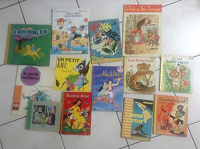 Joli lot d'anciens livres illustrés pour enfant