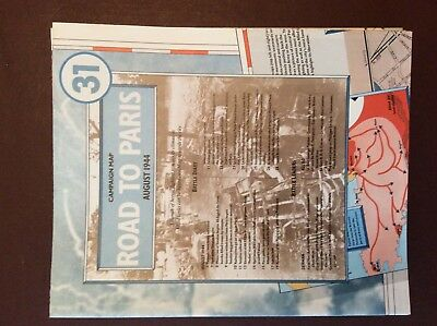 G1B fold out campaign map ww2 Road to paris 1944