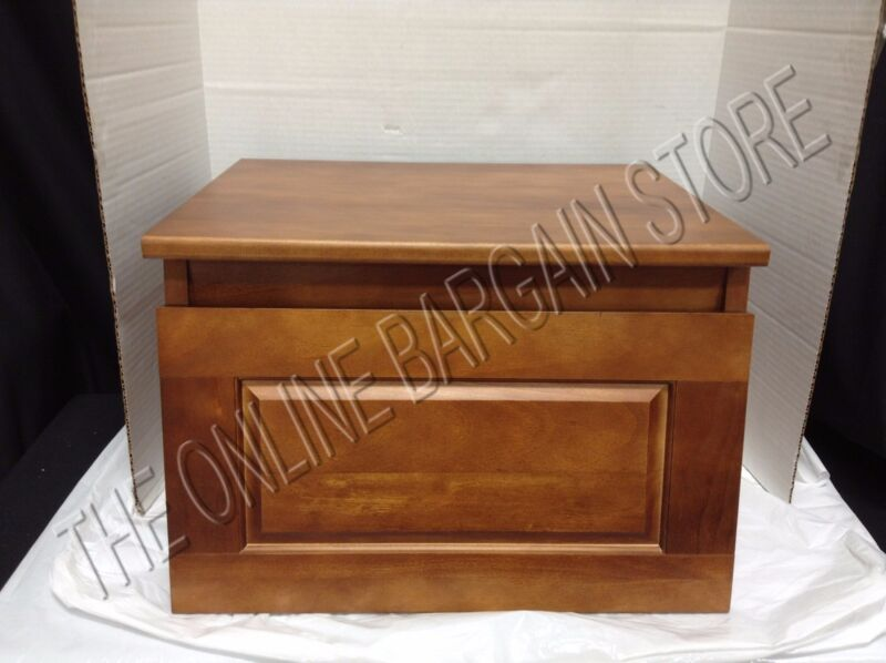 Ballard Designs Sawhorse Bookshelf File Storage Box Chest Bin Office Chestnut