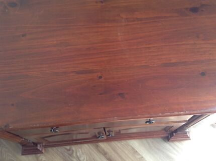 TV table with cabinets and a draw Prestons Liverpool Area Preview