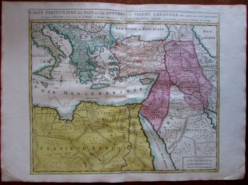 Mediterranean Arabia c. 1740 Covens & Mortier Armenia fine antique map