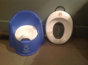 fauteuil pot babybjorn et siège de toilette babybjorn