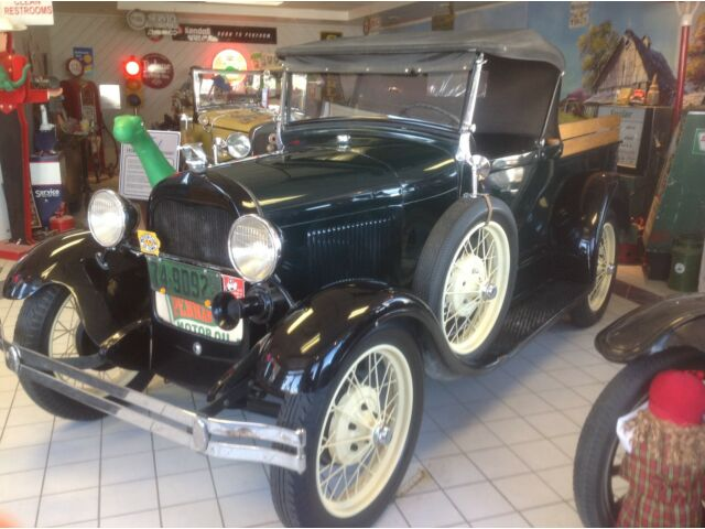 Ford : Model A Roadster PU 1929 ford model a roadster pick up truck convertible runs and drives with video