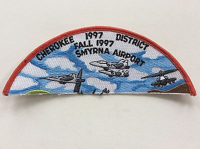 Middle Tennessee Council 1997 Cherokee District Smyrna Airport patch