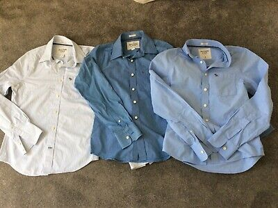 3 x mens smarter shirts bundle Abercrombie & Fitch small good condition