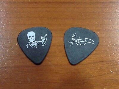 Rare Deftones Stephen Carpenter Skeleton Guitar Pick Black