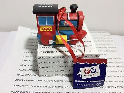 DEPARTMENT 56 HUFFY PUFFY ORNAMENT NEW WITH TAG FISHER PRICE RESIN TRAIN