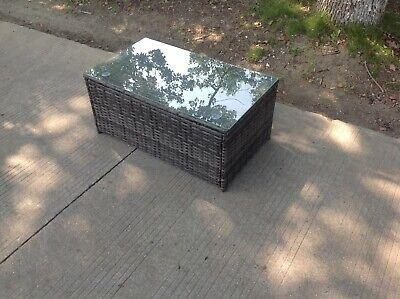 Rattan oblong coffee table Outdoor Garden Furniture patio furniture mixed grey