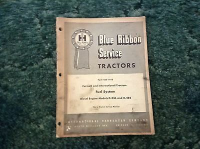 Gss-1010 - A New Original Blue Ribbon Service Manual For An Ih D236 D282 Engine