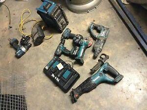 Makita cordless drill radio combo charger impact recip saw Maddingley Moorabool Area Preview